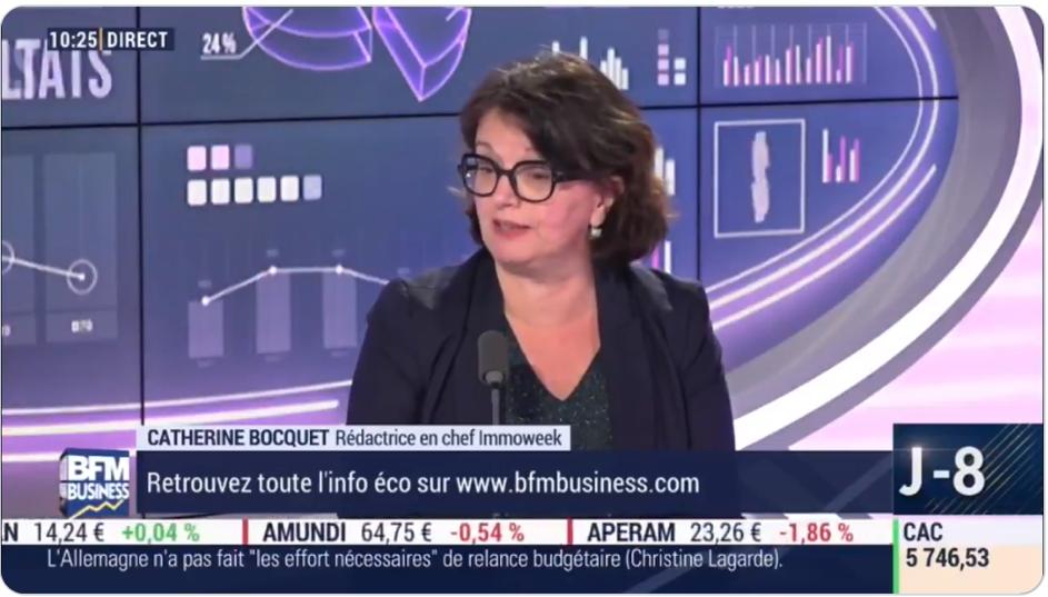 Catella Patrimoine citée sur BFM Business le 30 octobre 2019, par Catherine Bocquet